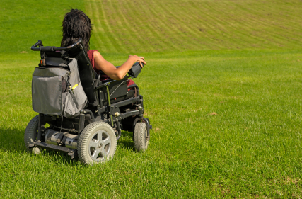 wheelchair on grass