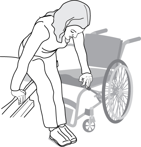 Graphic Of Woman Moving To A Bed