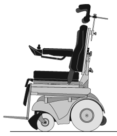 power recline wheelchair upright