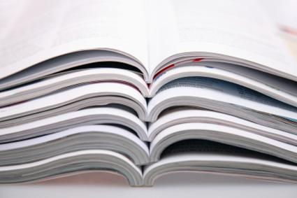 Stacks of journals