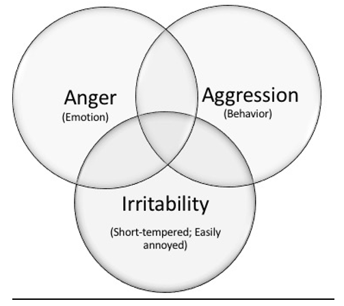 Venn Diagram - Anger, Aggression, and Irritability