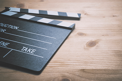 Clap board for video production