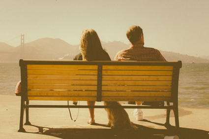 People sitting on bench